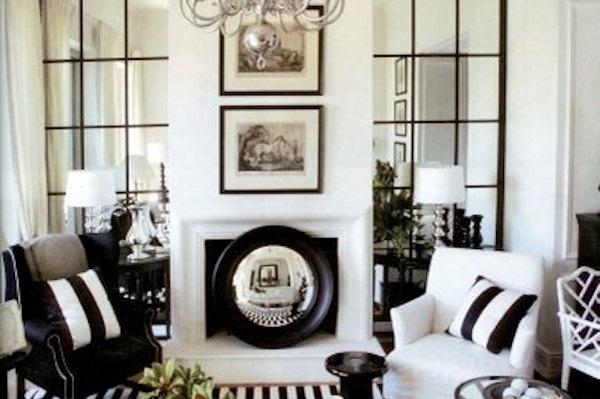 Маленький интерьер в чёрно-белом цвете