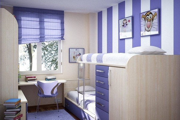 Маленький интерьер детской комнаты