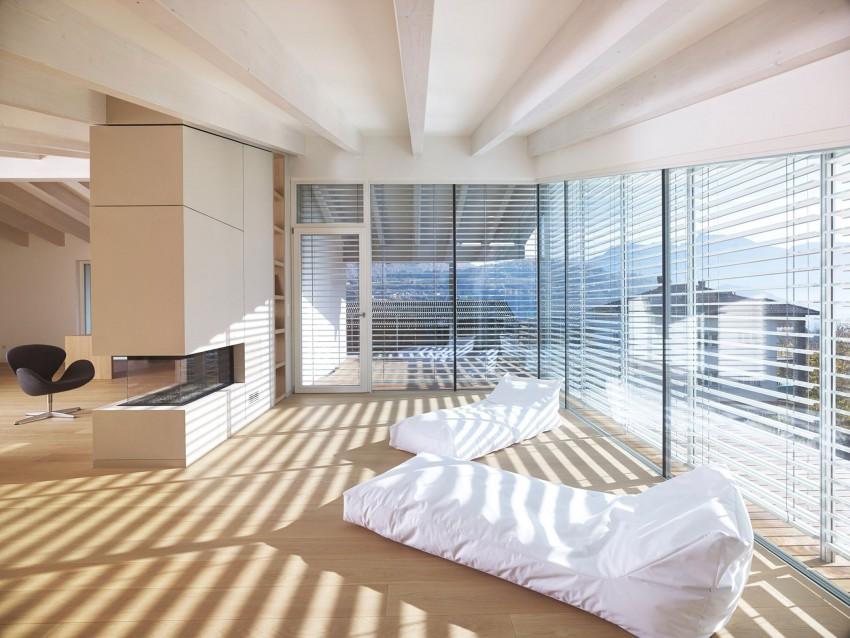 Зона отдыха в особняке MP от Burnazzi Feltrin Architetti