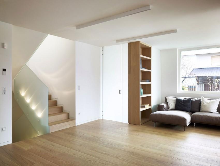 Лестница с подсветкой в особняке MP от Burnazzi Feltrin Architetti