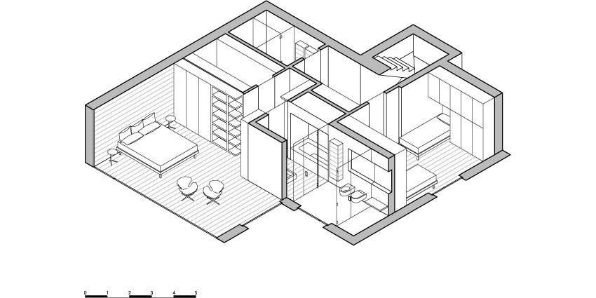 Планировка и меблировка второго уровня особняка MP