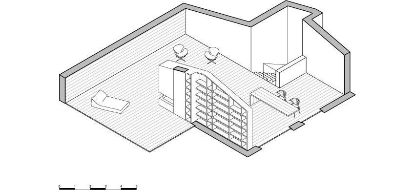 Планировка и меблировка третьего уровня особняка MP