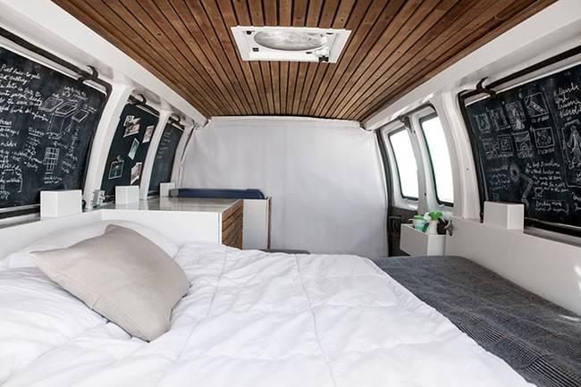 Спальня в доме на колёсах