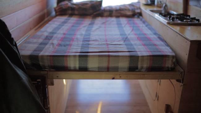 Спальное место в доме на колёсах