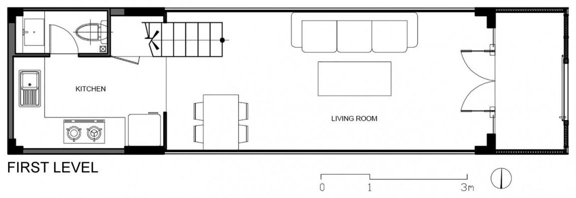 Планировка первого уровня дома от DD concept