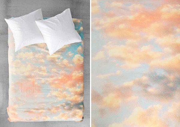 Постельное бельё с принтом в виде неба