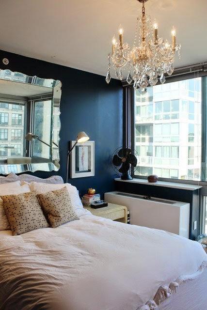 Интерьер спальни в нью-йоркской квартире