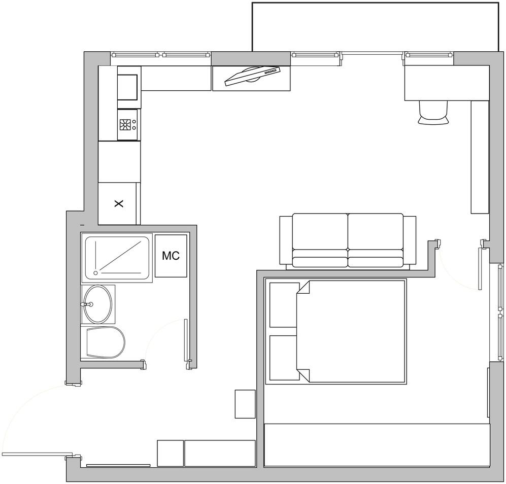 Планировка роскошных апартаментов от Марии Дадиани