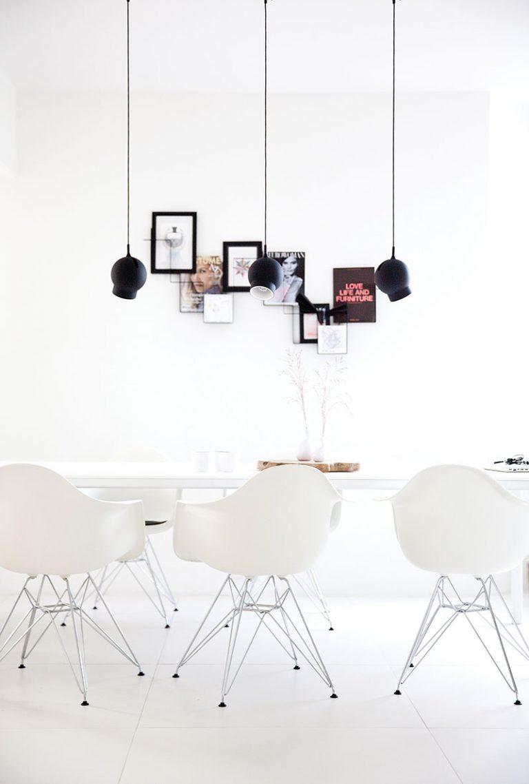 Дизайн небольшой квартиры в чёрно-белом цвете - фото 5