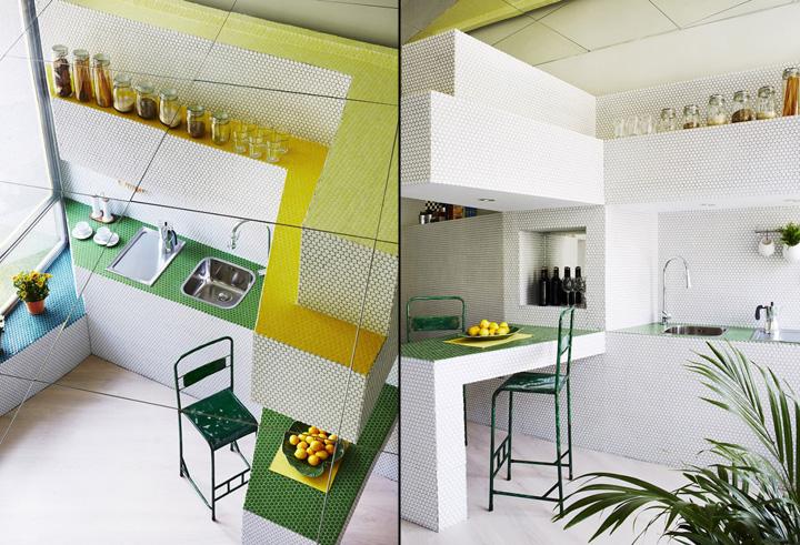 Мозаичный дизайн небольшой квартиры - фото 4