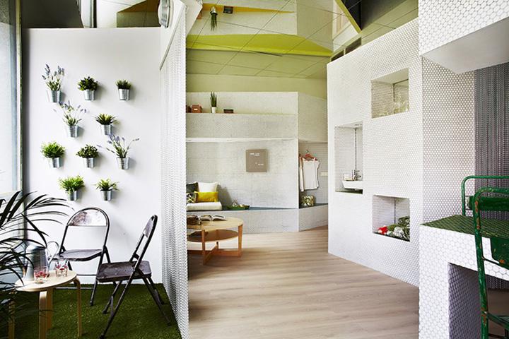 Мозаичный дизайн небольшой квартиры