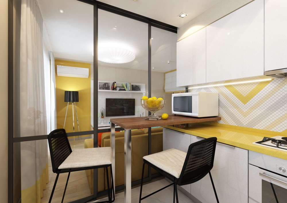 Обеденный уголок на маленькой кухне