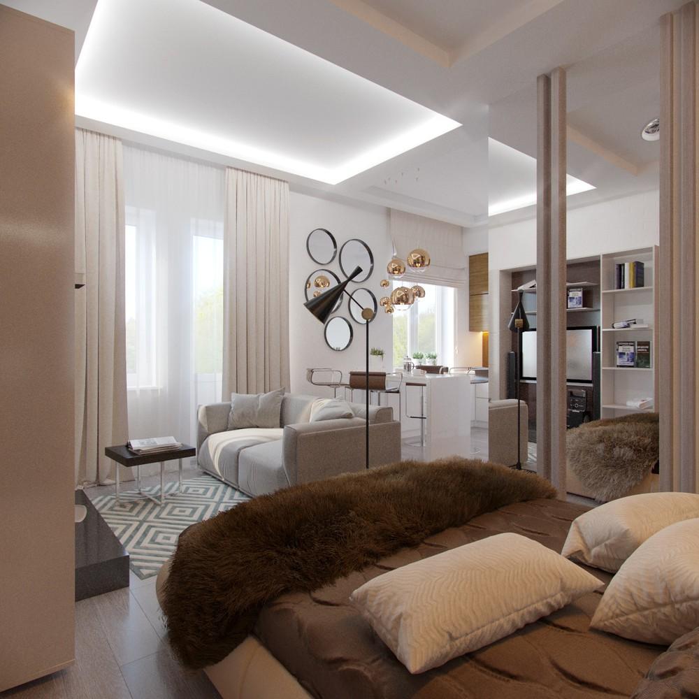 Экзотические материалы в интерьере маленькой квартиры