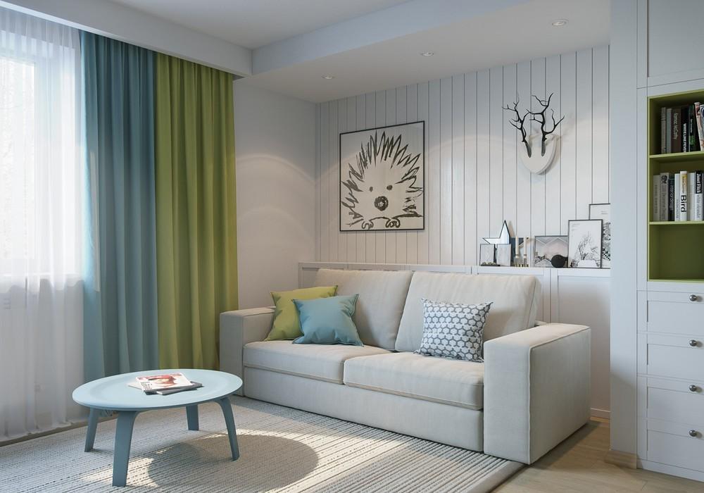 Интерьер маленькой квартиры в натуральных тонах