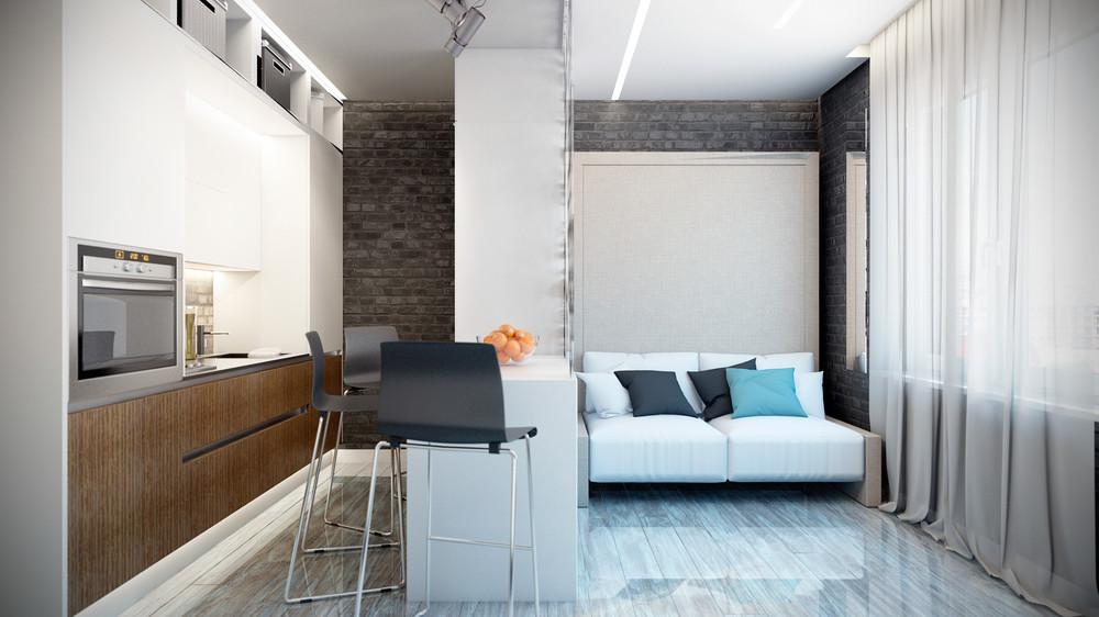 Функциональное зонирование в маленькой квартире