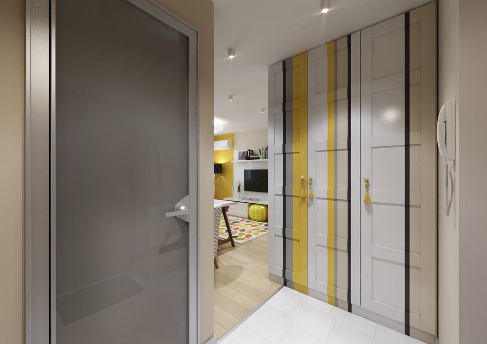 Встроенные шкафы в коридоре
