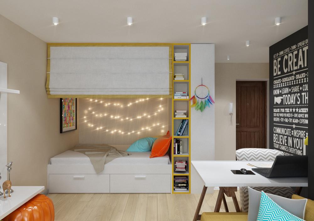Спальное место за ширмой