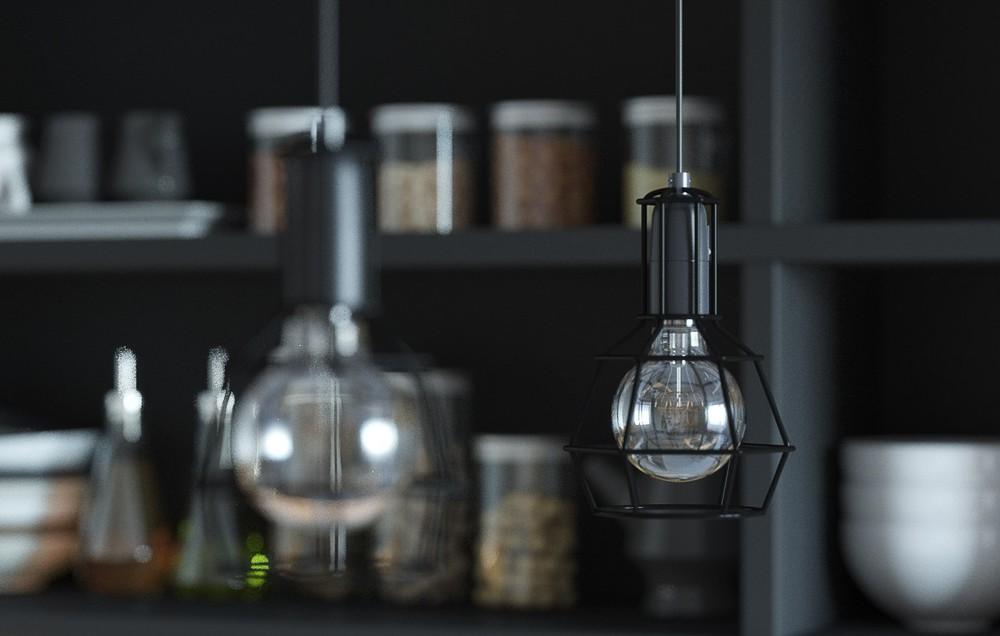 Оригинальные светильники в интерьере маленькой квартиры