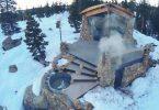 Фото домика в горах. Потрясающий пейзаж