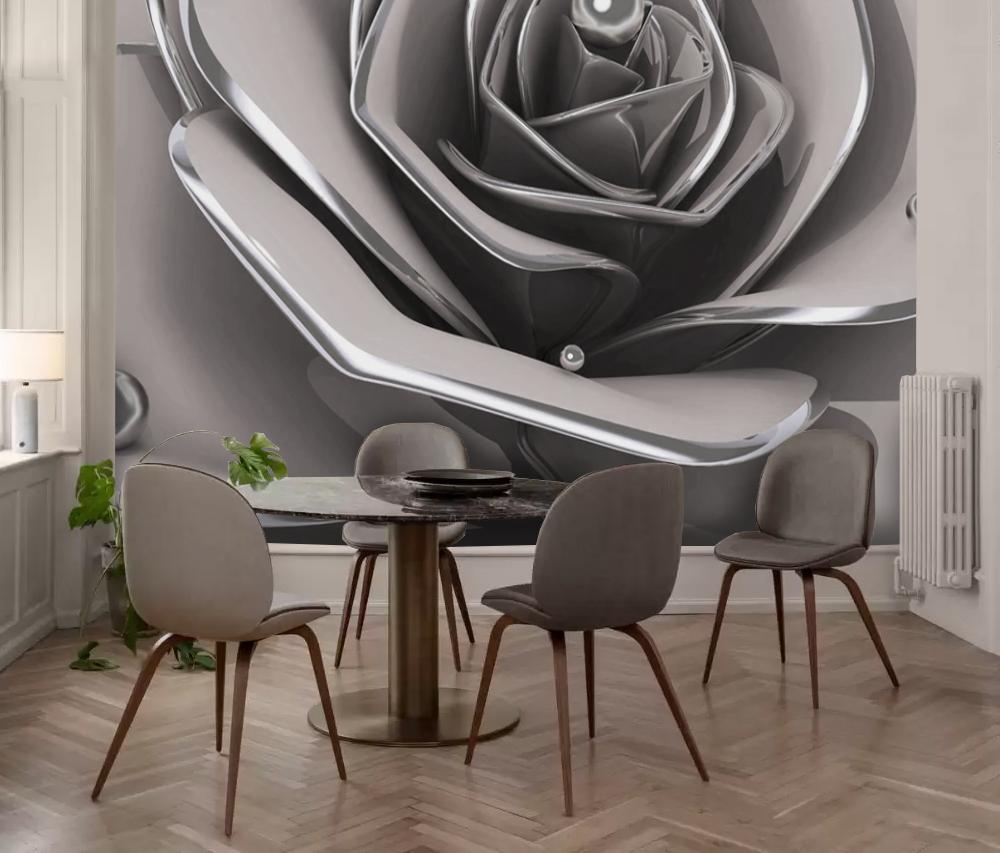 Фотообои для маленькой кухни рисунок роза