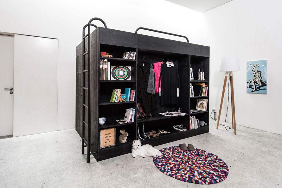 Мебель для маленькой квартиры в форме куба