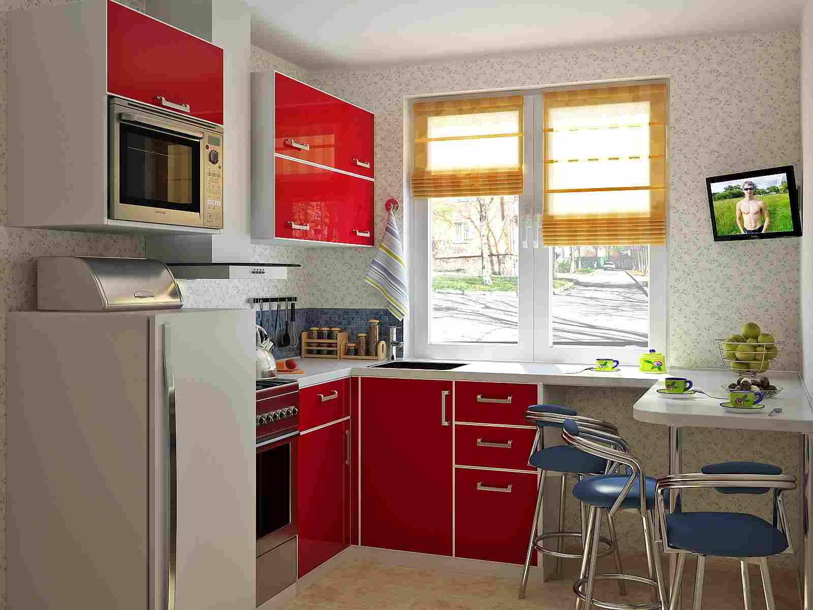 Современный кухонный гарнитур П-образной формы