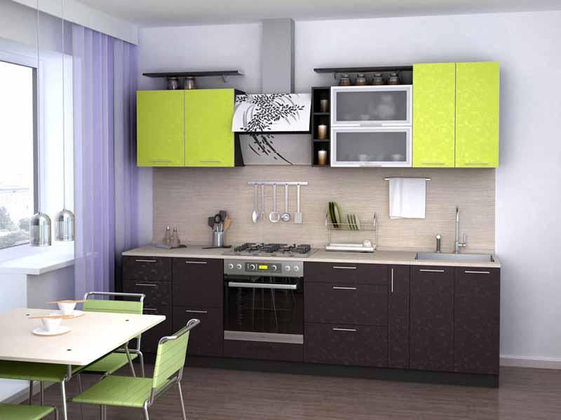 Современный кухонный гарнитур с раздвижным столом