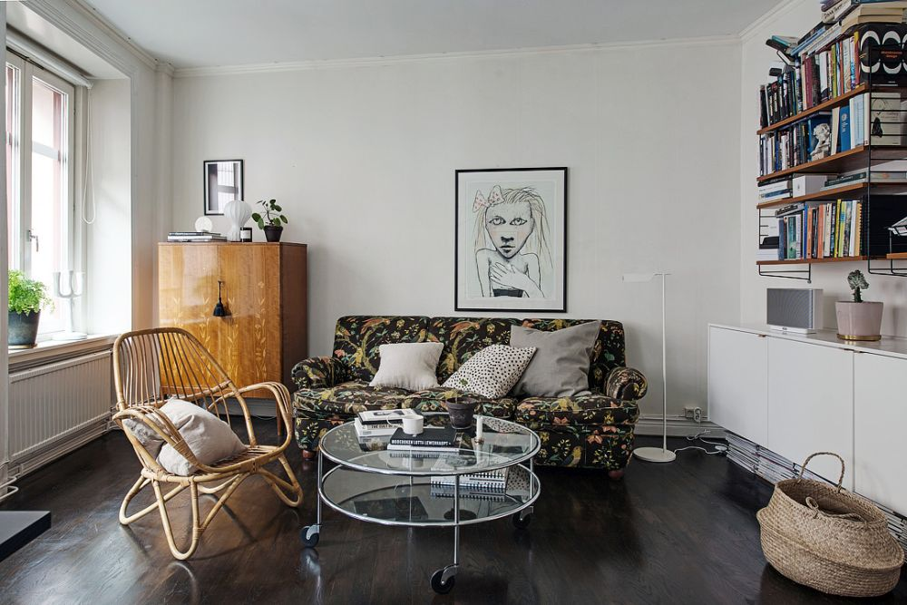 Глянцевый пол в гостиной