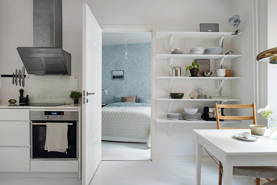 Интерьер маленькой квартиры с одной спальней