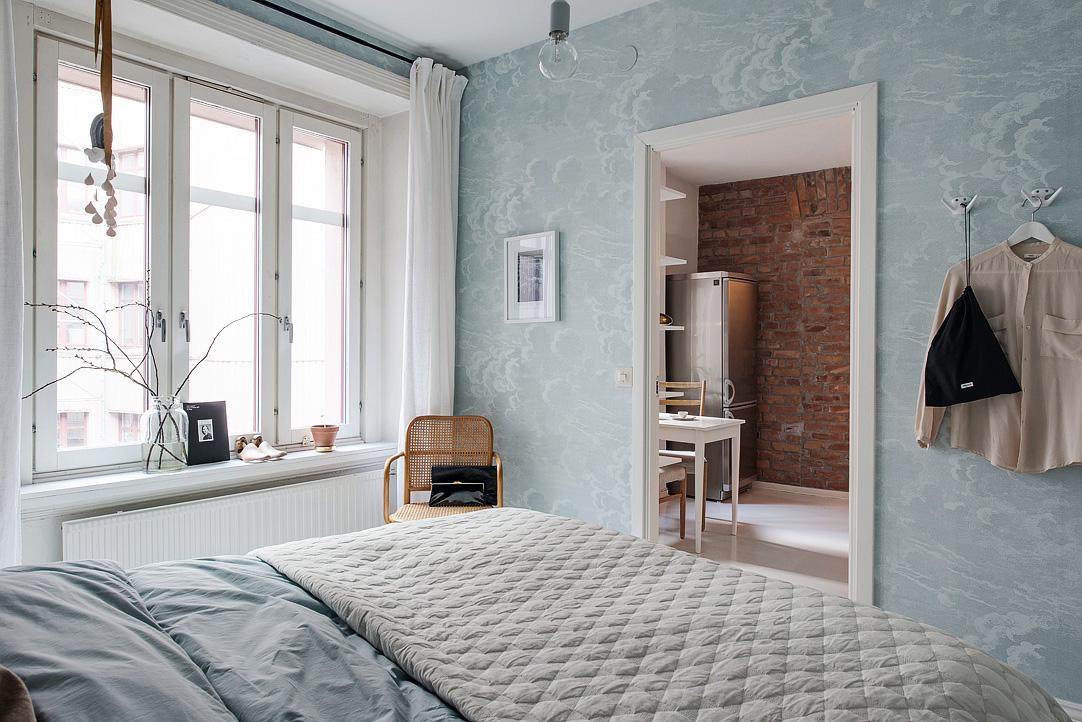 Рельефный текстиль в интерьере спальни