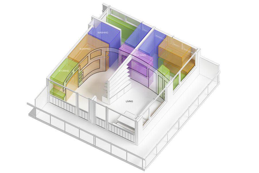 Цветной макет апартаментов
