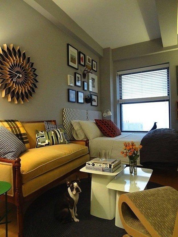 Маленькая спальня гостиная