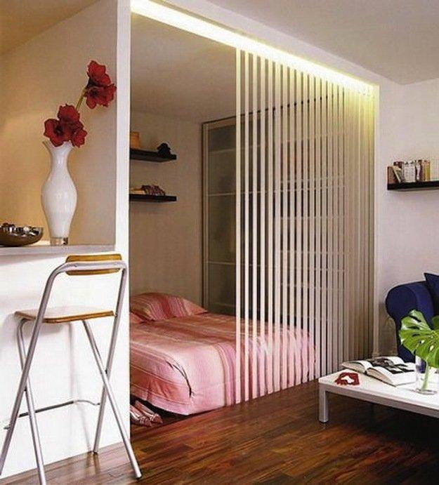 Спальня гостиная с ширмой