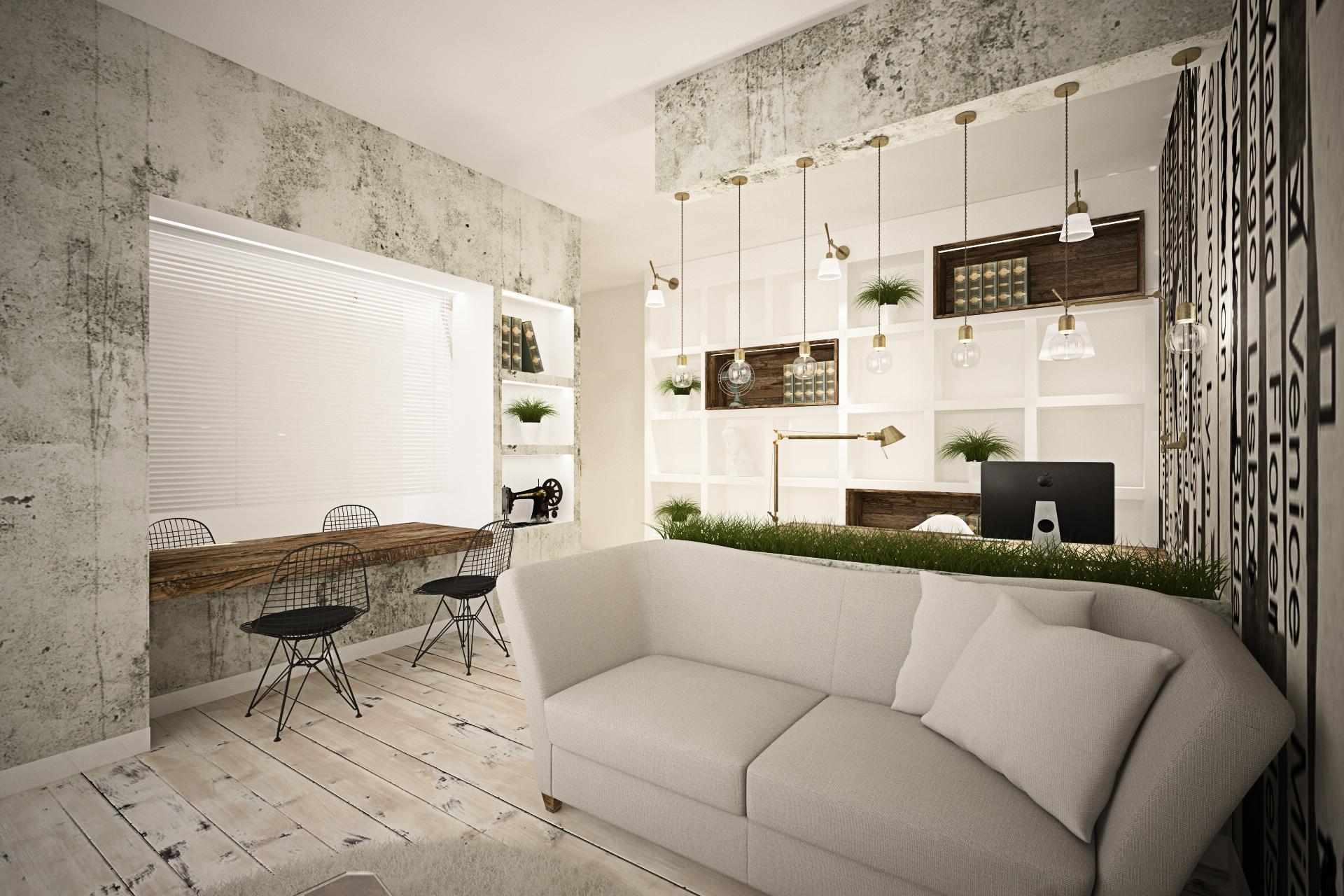 Мягкое освещение в маленькой гостиной