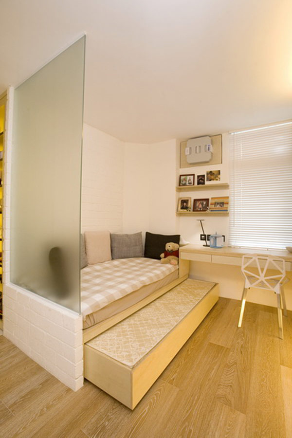 фото однокомнатных квартир с местом для кровати рукой над