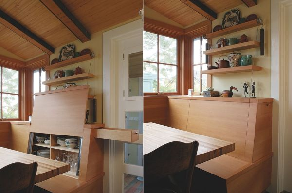 Системы хранения в кухонном сиденье