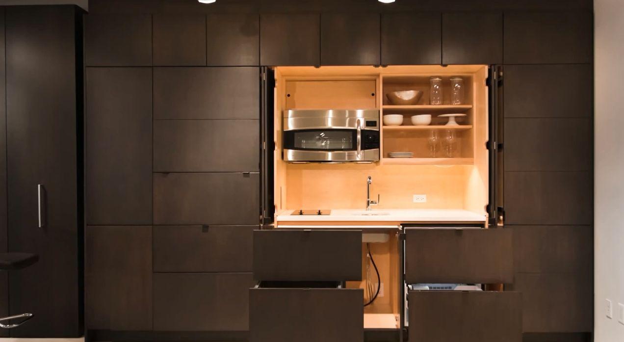 Скрытая на кухне 12 фотография