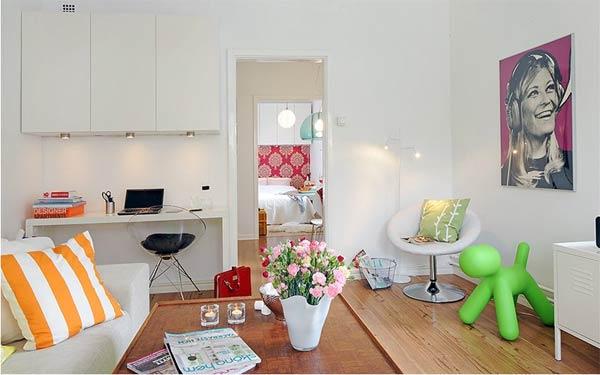 Интерьер гостиной маленькой квартиры