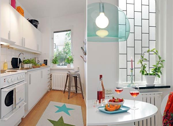 Интерьер кухни маленькой квартиры