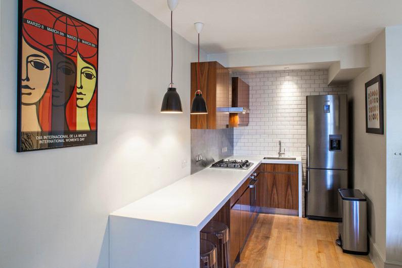 Освещение на современной кухне