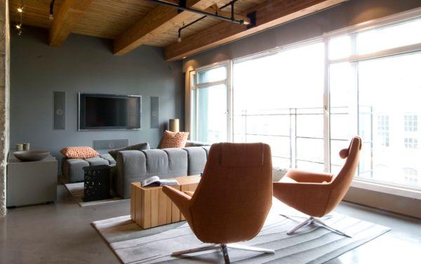 Интерьер квартиры-студии в пастельных тонах
