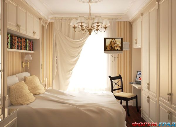 Идея для маленькой спальни