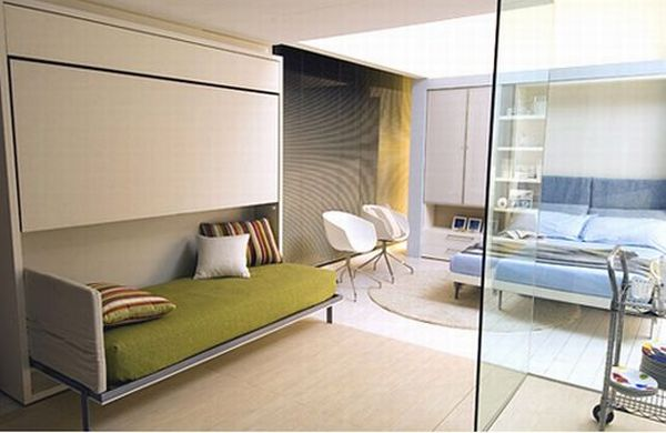 Трансформируемое пространство в гостиной