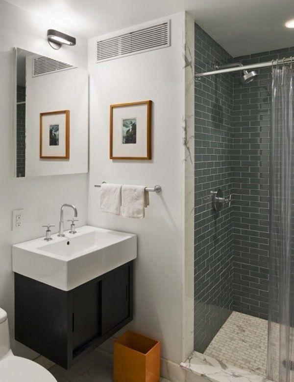 Оформление стильной маленькой ванной