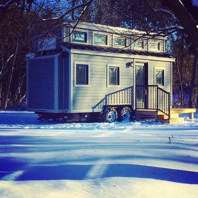 Готовый проект мини-дома. Канадский теремок