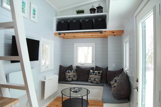 Готовый проект мини-дома. Ванная комната в мини-доме