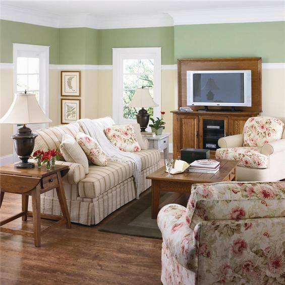Цветочные мотивы в интерьере гостиной