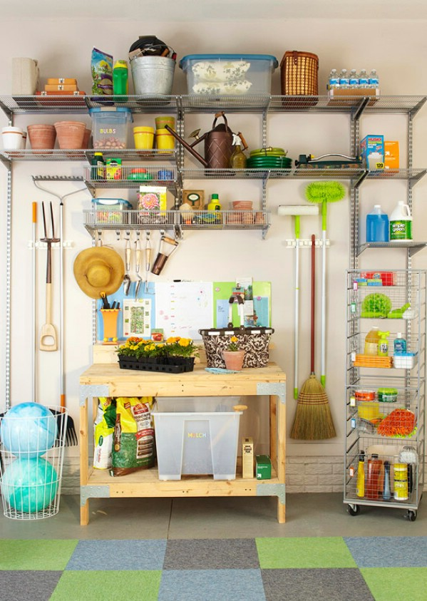 Организованное пространство в гараже