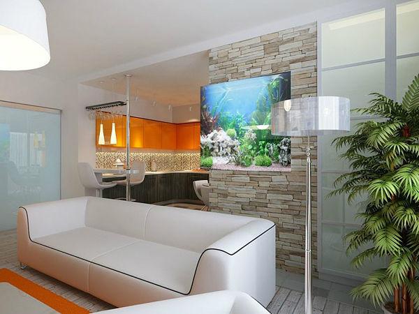 Аквариум на стене