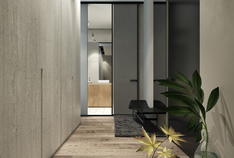 Дизайн коридора для маленькой квартиры в скандинавском стиле - фото 2